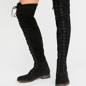 Lace Up Free People Tallahassee Suede Boots